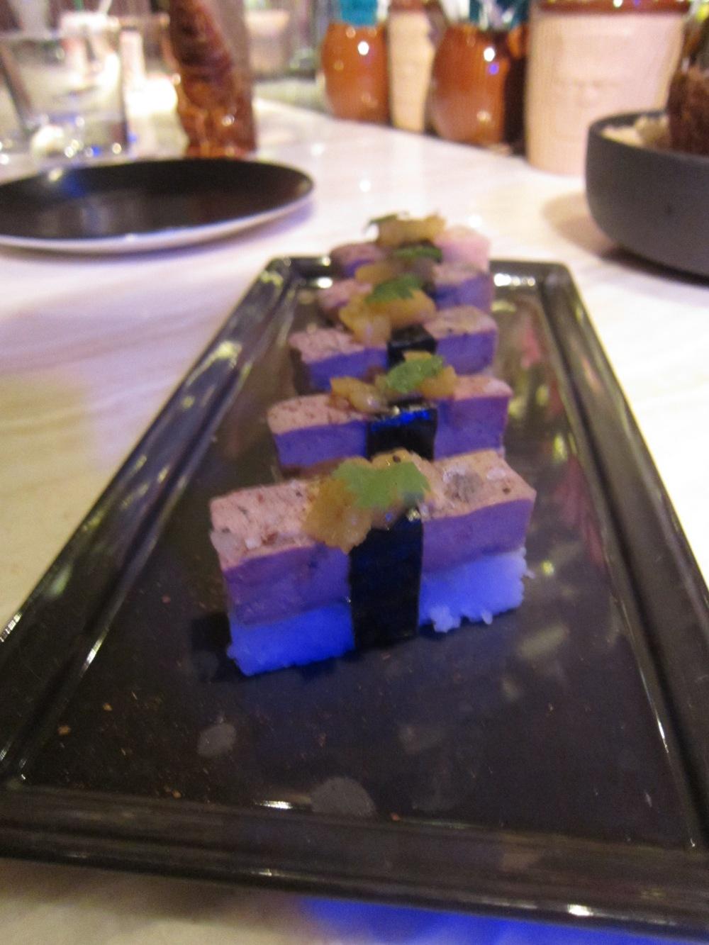 Foie gras masubi