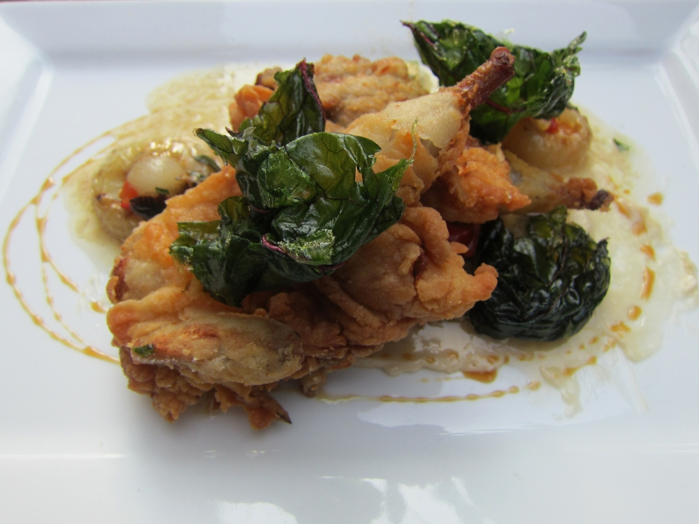 Hopleaf: Country fried quail with roasted seasonal vegetables
