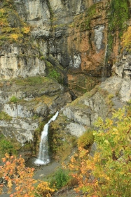 First overlook of Stewart Falls, a quarter mile from the valley below