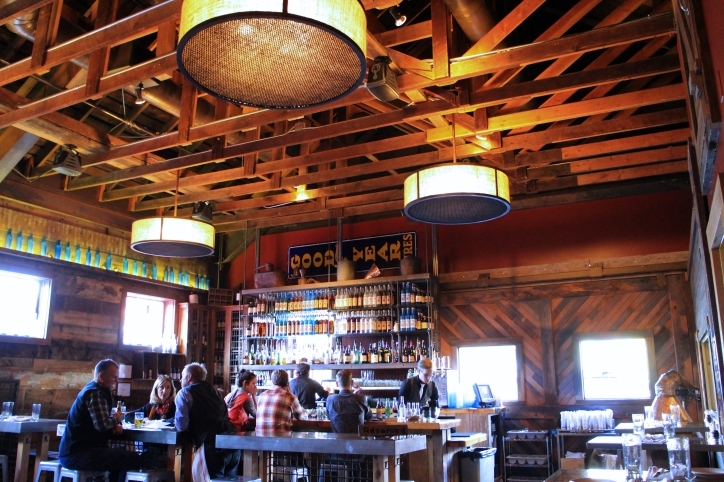 The dining room at High West Saloon & Distillery