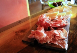 Charcuterie made in conjunction with Cristiano Creminelli and assorted cheeses