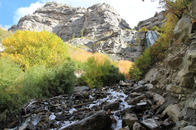 Bridal Veil Falls, scalable during the drier months